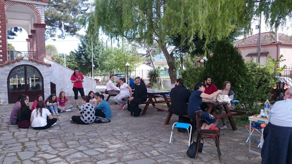 Στον ιερό ναό Αγίας Ακυλίνας στο Ζαγκλιβέρι Θεσσαλονίκης