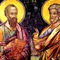 Τῶν ἁγίων ἐνδόξων καί πανευφήμων καί κορυφαίων ἀποστόλων Πέτρου καί Παύλου